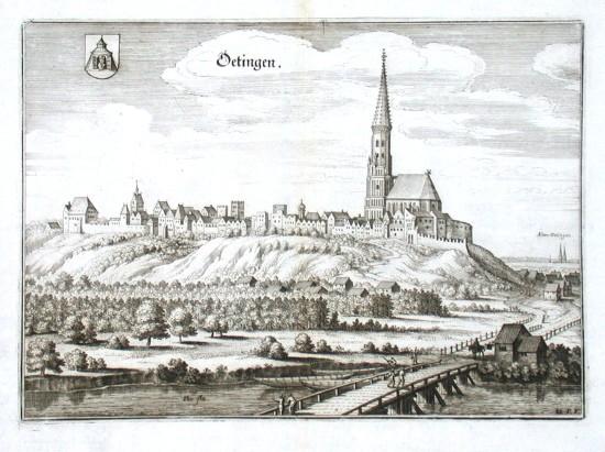 Oetingen - Alte Landkarte