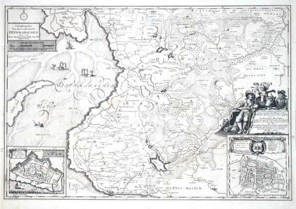 Landtcarte Von dem Sudertheill Dithmarschen. Anno 1648 - Alte Landkarte