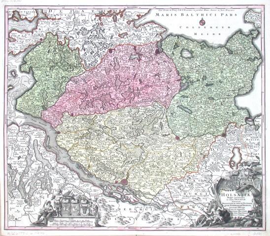 Holsatiae - Antique map