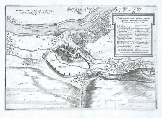Statt Freisingen - Alte Landkarte