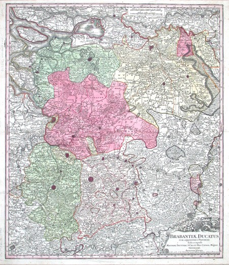 Brabantiae Ducatus - Alte Landkarte
