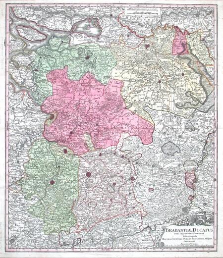 Brabantiae Ducatus - Antique map