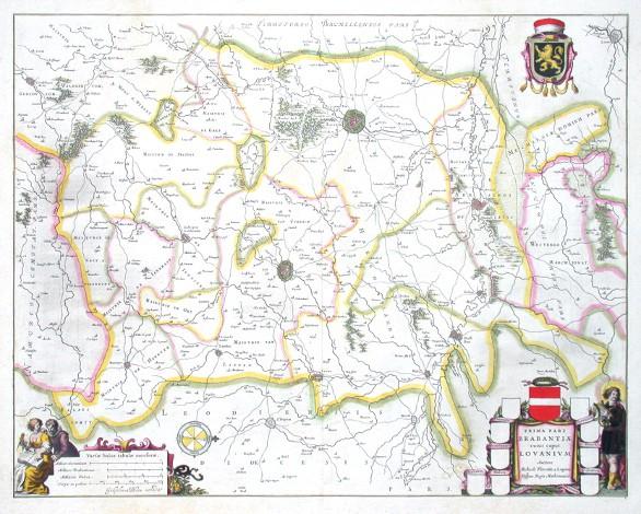 Prima pars Brabantiae cuius caput Lovanium - Alte Landkarte