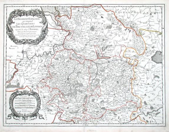 Le Brabant Espagnol - Alte Landkarte