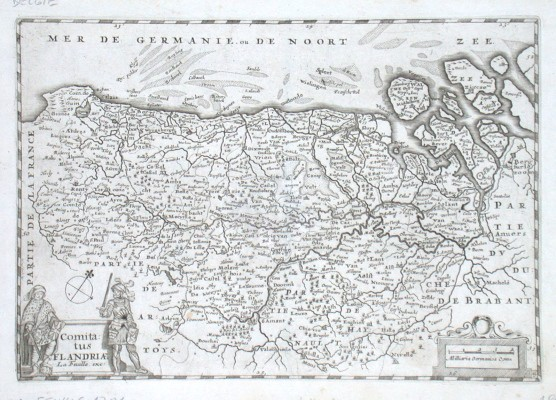 Comitatus Flandriae - Alte Landkarte