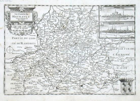 Le Comte de Haynavlt - Stará mapa