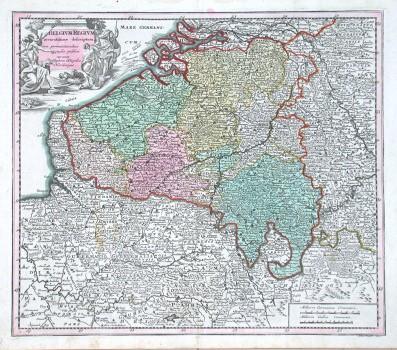 Belgivm Regivm accuratissime descriptum - Antique map