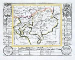 Die Grafschafft Namur - Stará mapa