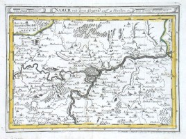 Namur mit dero Gegend auff 2 Stunden - Alte Landkarte