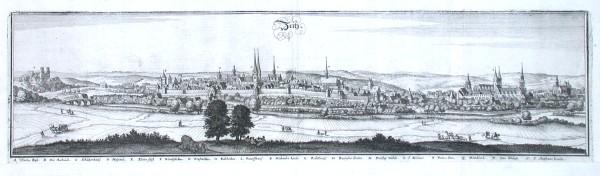 Zeitz - Antique map