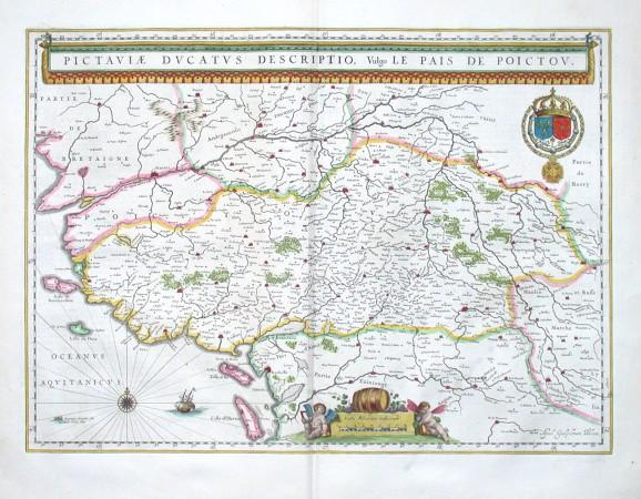 Pictaviae ducatus descriptio, Vulgo le Pais de Poictou - Alte Landkarte