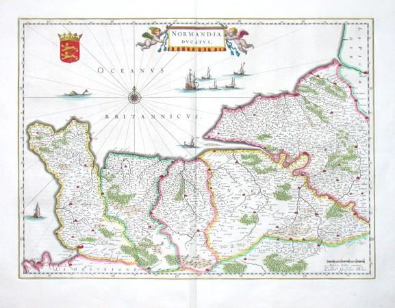 Normandia dvcatvs - Stará mapa