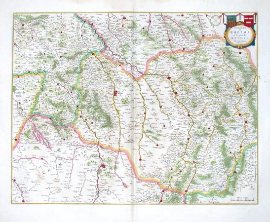 Dioecese de Rheims et le pais de Rethel - Alte Landkarte