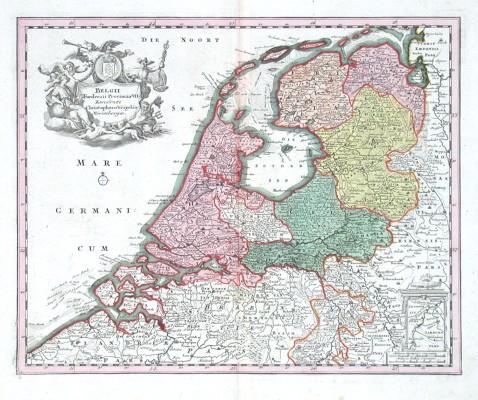 Belgii Foederati Provinciae VII - Alte Landkarte