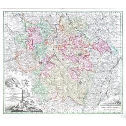 Lotrinsko - Mappa Geographica in qua Ducatus Lotharingiae et Barr ut et Episcopatuum Metens. Tullens. Verdunens