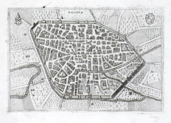 Bologna - Alte Landkarte