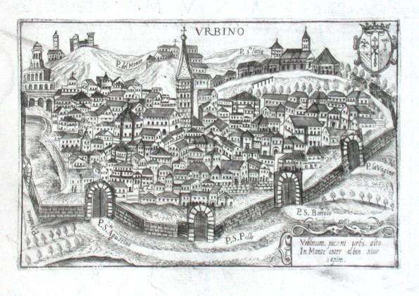 Urbino - Stará mapa