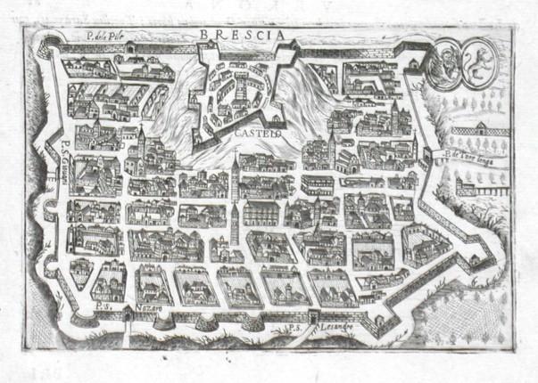 Brescia - Stará mapa
