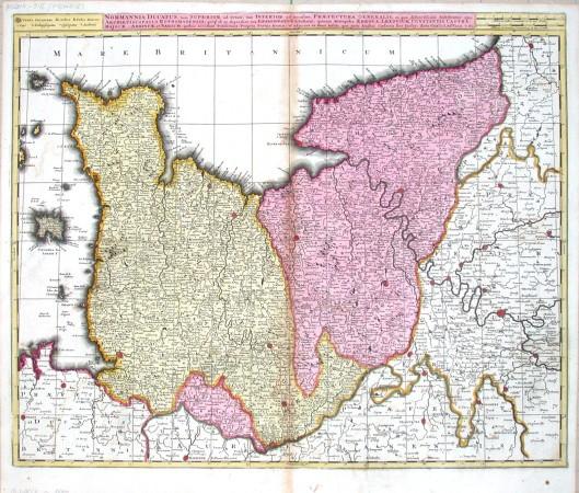 Noramnnia Ducatus - Alte Landkarte