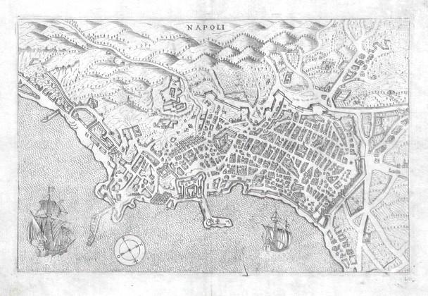 Napoli - Alte Landkarte