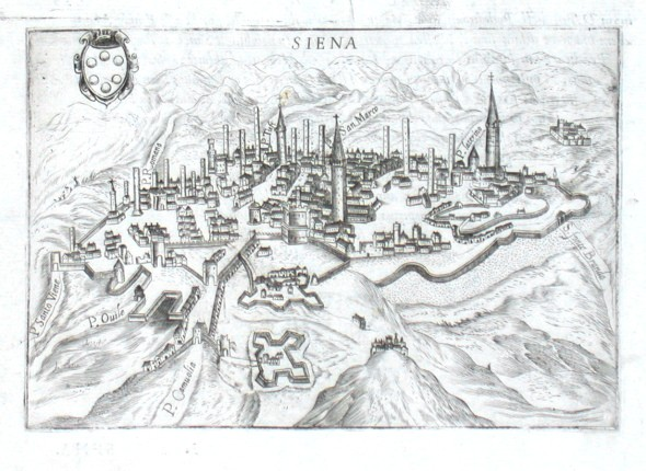 Siena - Antique map