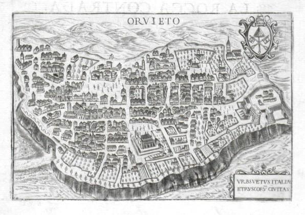 Orvieto - Alte Landkarte