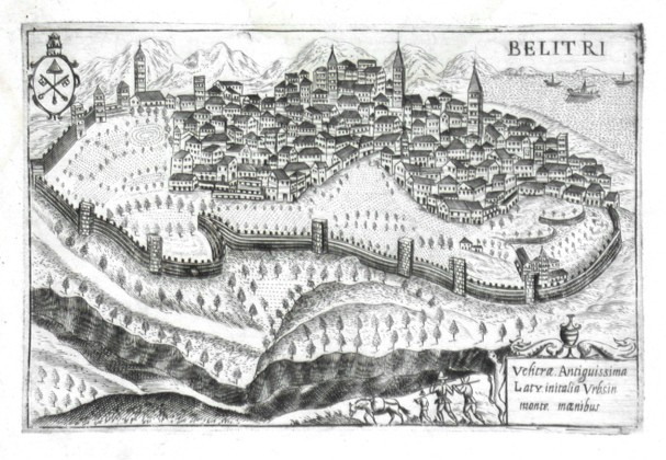 Belitri - Antique map