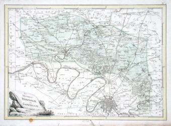 Der district Pontoise und Gonnesse - Alte Landkarte