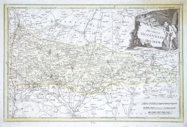 Der district Grandvilliers und Breteuil - Alte Landkarte