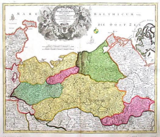 Ducatus Meklenburgici tabula generalis - Alte Landkarte