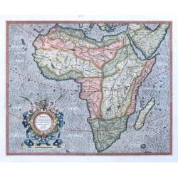 Africa Ex magna orbis terre descriptione Gerardi Mercatoris desumpta, Studio & industria G. M. Iunioris