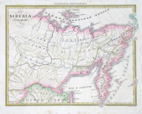 La Siberia Orientale - Stará mapa