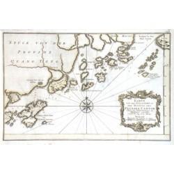 Karte von den Eylanden in der Mundung des Flusses Canton