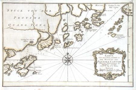 Karte von den Eylanden in der Mundung des Flusses Canton - Alte Landkarte