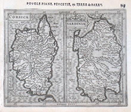 Corsica - Sardinia - Stará mapa