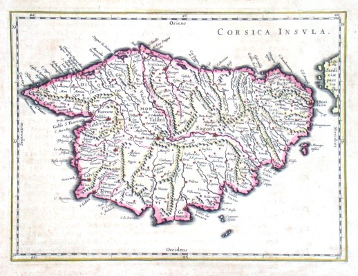 Corsica Insvla - Stará mapa