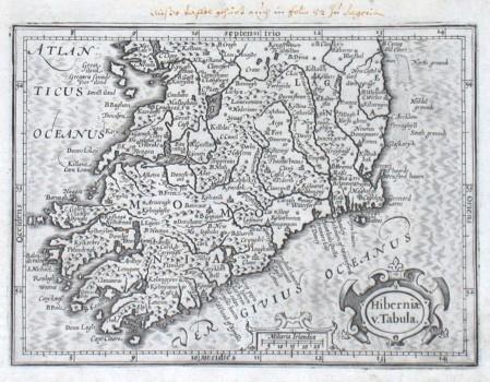 Hiberniae v. Tabula - Alte Landkarte