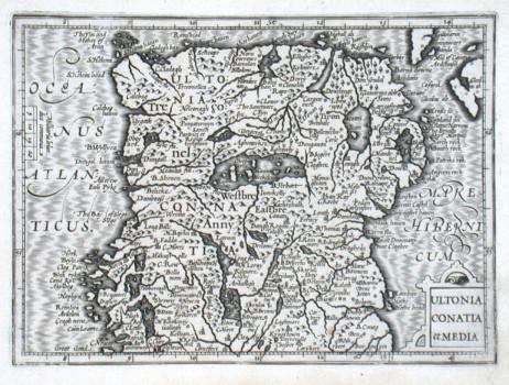 Ultonia Conatia et Media - Alte Landkarte