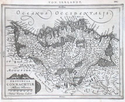 Provincia Connachtiae - Alte Landkarte