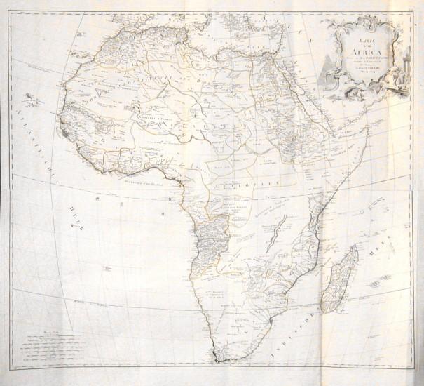 Karte von Africa - Stará mapa