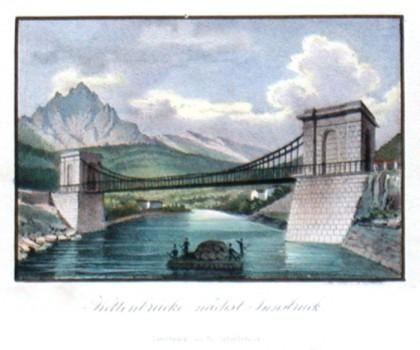 Kettenbrücke nächst Innsbruck - Alte Landkarte