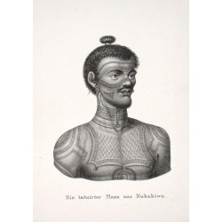 Ein tatuirter Mann aus Nukahiwa