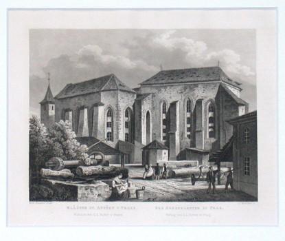 Klášter sv. Anežky v Praze. Das Agneskloster zu Prag - Stará mapa