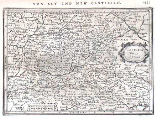 Castilia Vetus et Nova - Antique map