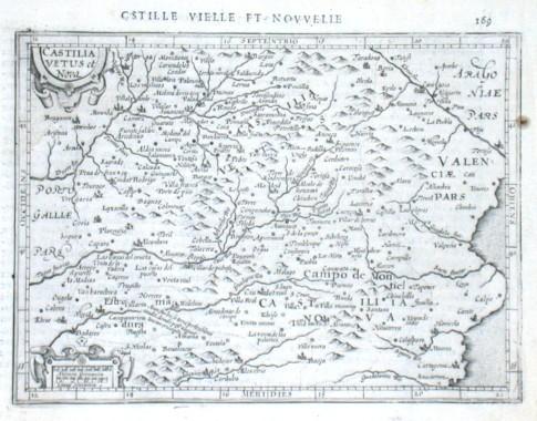 Castilia Vetus et Nova - Alte Landkarte
