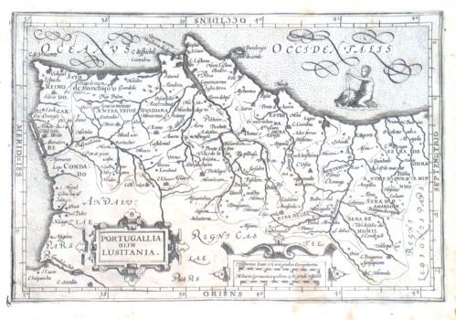 Portugallia olim Lusitania - Stará mapa