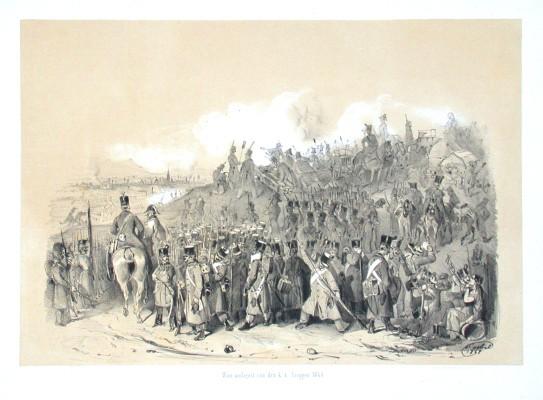 Wien umlagert von k. k. Truppen 1848 - Alte Landkarte