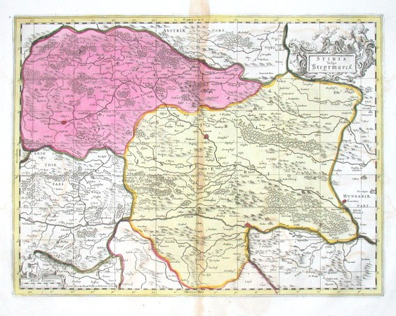 Stiria Vulgo Steyrmarck - Alte Landkarte