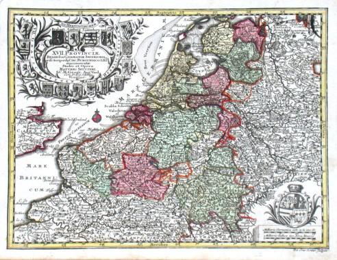 Benelux - XVII. Provinciae - Alte Landkarte