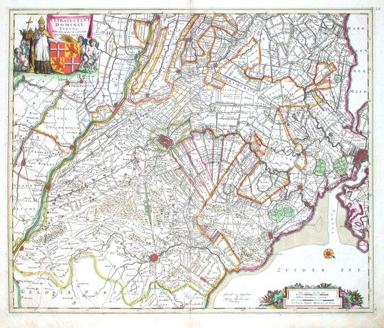 Ultraiectini Dominii Tabula - Alte Landkarte